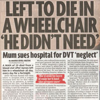 Left to die in a wheelchair 'he didn't need'  (Sunday Mirror)