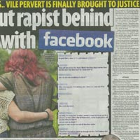 Rapist Caught through Facebook (Sunday Mirror)