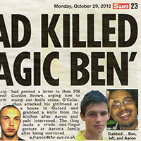 Musician Knifed To Death (The Sun)