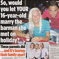 Teen to marry Turkish barman (Mail on Sunday) P2
